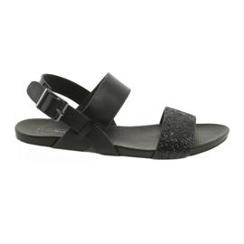 Komfortable sorte sandaler Filippo 685 brocade