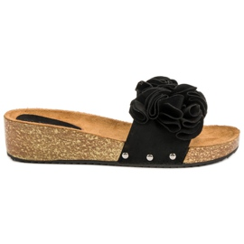 Seastar sort Casual Black Slippers