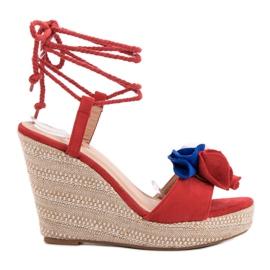 Seastar rød Bundet Sandaler på Wedge