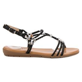 Cm Paris sort Flad sandaler