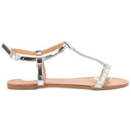 Abloom grå Lakerede flade sandaler