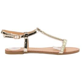 Abloom gul Lakerede flade sandaler