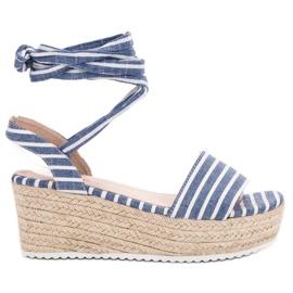Seastar Sandaler Med Wedge Bælter blå