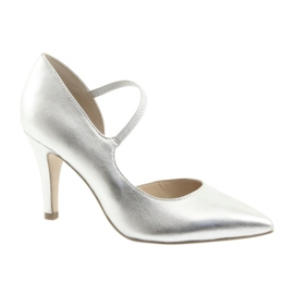 Sko med stroppe Caprice 24402 sølv grå