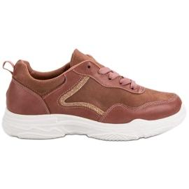 SHELOVET Moderigtige Sneakers pink