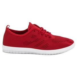 SHELOVET Tekstil Lace-up Fodtøj rød