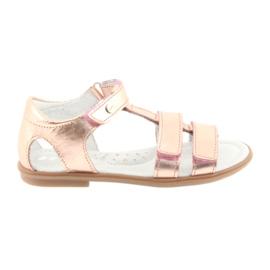Girls sandaler, pink guld, Bartek 56016