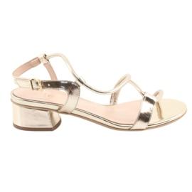 Sandaler guld på hæle Edeo 3386