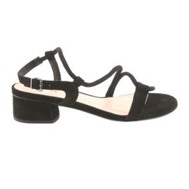 Sort sandaler høje hæle Edeo 3386