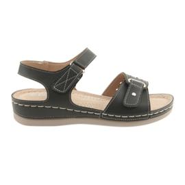 Sandaler til kvinder komfort DK 25131 sort