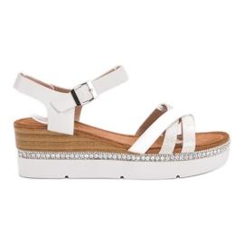 Seastar hvid Moderigtige sandaler med zirkoner