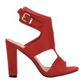 Ideal Shoes rød Sexy High Heels