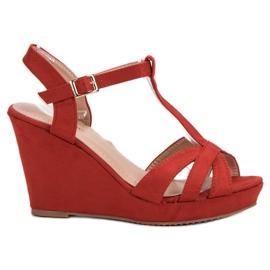 SHELOVET Suede Sandaler rød