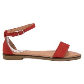 Laura Mode rød Klassiske flad sandaler