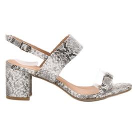 Ideal Shoes grå Moderigtige kvinders sandaler