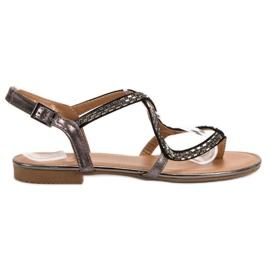 Small Swan Japanske sandaler grå