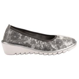 Filippo Lys grå læder ballet sko