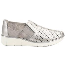 Filippo grå Sølv Slip On sko