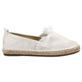 Lily Shoes hvid Espadrilles med frynser