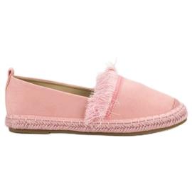 Lily Shoes pink Espadrilles med frynser