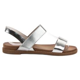 Laura Mode grå Slip-on Sandaler