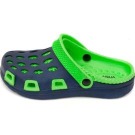 Aqua-speed tøfler Silvi Jr col 48 grøn marineblå
