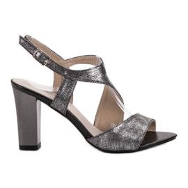 Goodin grå Sølv Sandaler
