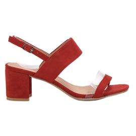 Ideal Shoes rød Moderigtige kvinders sandaler