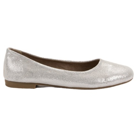 Læder ballerina VINCEZA grå