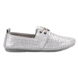 Læder sko VINCEZA grå