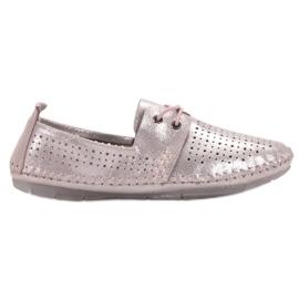 Læder sko VINCEZA pink