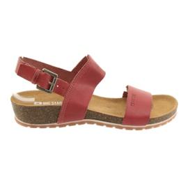 Big Star Røde store kvinders sandaler 274A016