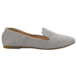 Lily Shoes grå Suede Lords
