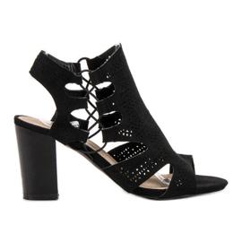 Goodin Moderigtige Black Sandals sort