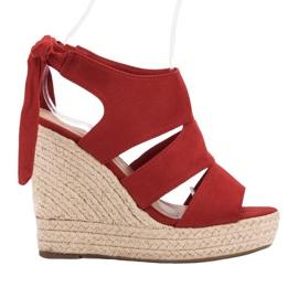 Cm Paris Røde Sandaler På Wedge