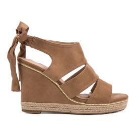 Anesia Paris brun Weddered Sandals