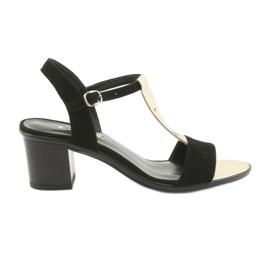 Sandaler til kvinder Anabelle 1447 sort / guld
