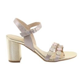 Kvinders sko sølvfarvet rosa Gamis 3658