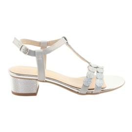 Kvinders sandaler striber Gamis 3661 grå perle