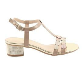 Kvinders sandaler striber Gamis 3661 beige