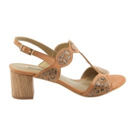 Brun Kvinders sandaler toffee / panther Anabelle 1352