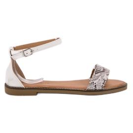 Laura Mode Klassiske flad sandaler
