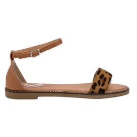 Laura Mode brun Klassiske flad sandaler