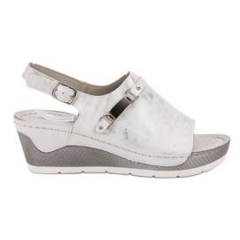 Goodin hvid Komfortable Wedge Sandals