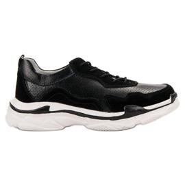 Goodin Sort Læder Sneakers