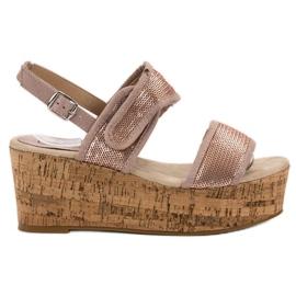 Kylie pink Sandaler med velcro