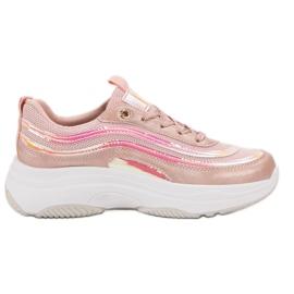 SHELOVET Sneakers On Platform pink