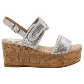 Kylie grå Sandaler med velcro