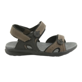 American Club American Youth Sports Sandals HL09 black / khaki