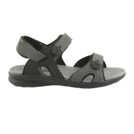 American Club American HL09 sort / grå sports sandaler